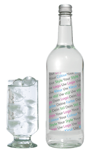 private label drink glass bottle