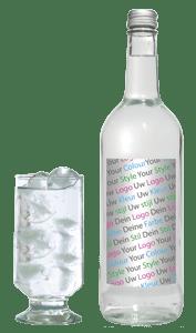 Water met logo mineraalwater flesje met eigen logo