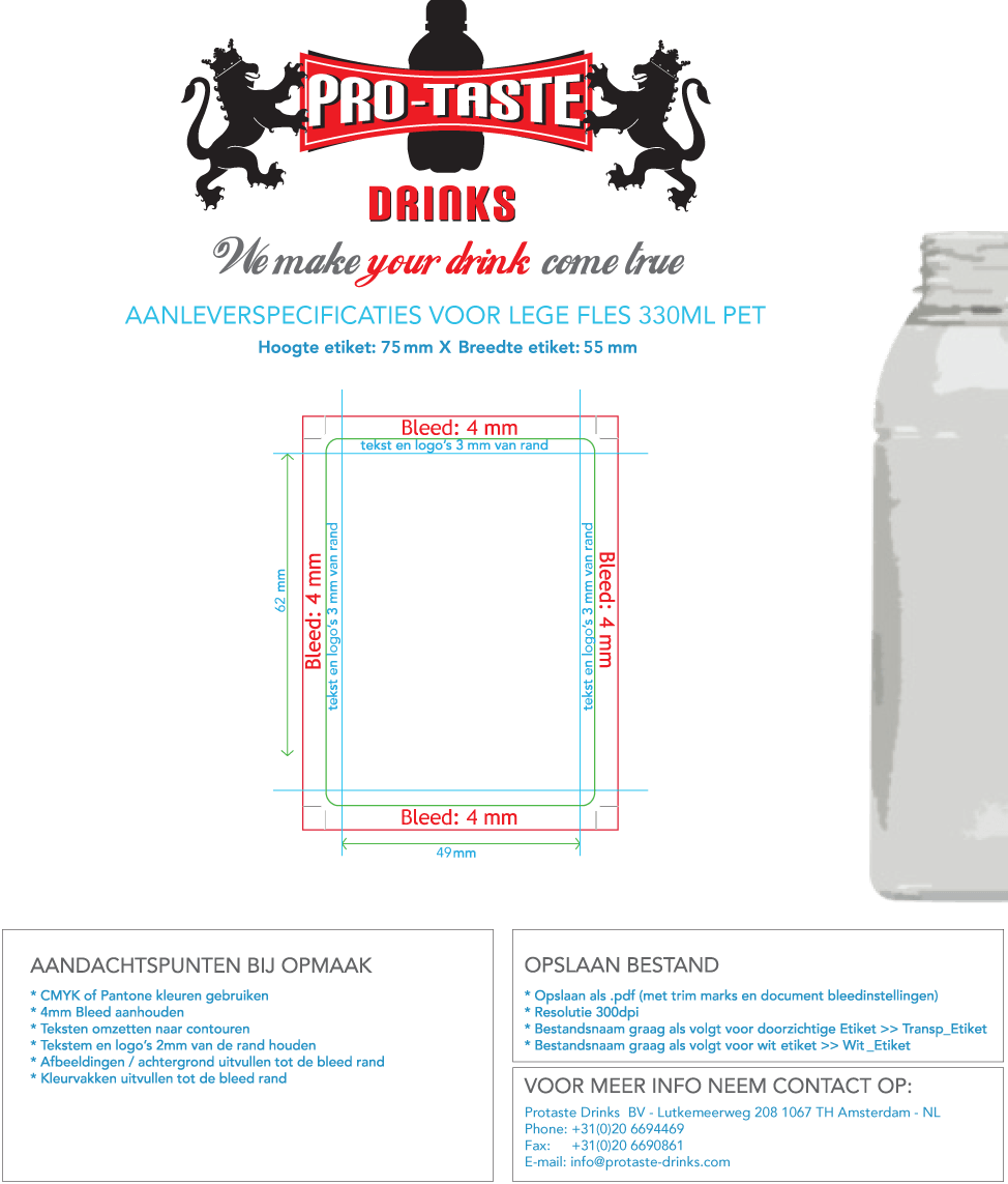 Empty Bottle 330ml PET Template