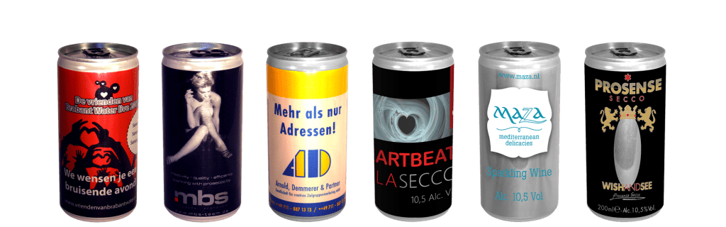Custom Prosecco Cans
